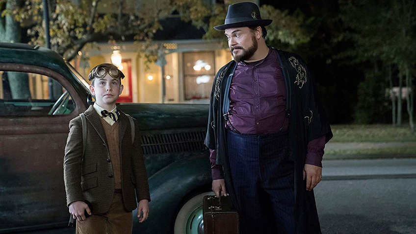 Jack Black and Owen Vaccaro in The House with a Clock in Its Walls - Copyright Storyteller Distribution Co., LLC - Credit IMDB