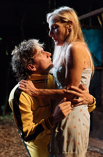 Tom Mothersdale and Lesley Sharp in The Woods - Credit Manuel Harlan
