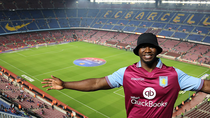 Man at Barcelona's Nou Camp - Free for commercial use - No attribution required - Credit Pixabay