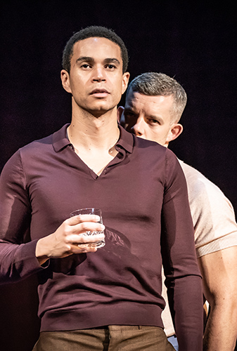 John Macmilland and Russell Tovey in Pinter Two - Credit Marc Brenner
