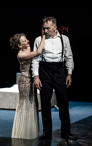 Niamh Cusack and Christopher Eccleston in Macbeth - Credit Richard Davenport