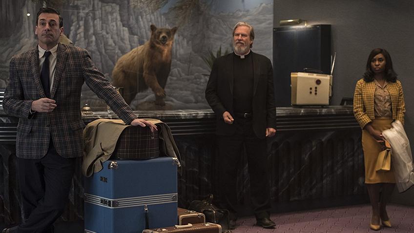 Jeff Bridges, Jon Hamm and Cynthia Erivo in Bad Times at the El Royale - Credit IMDB