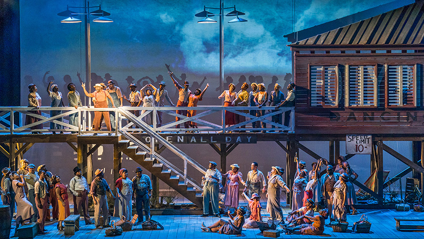 The cast of ENO's Porgy and Bess - Credit Tristram Kenton