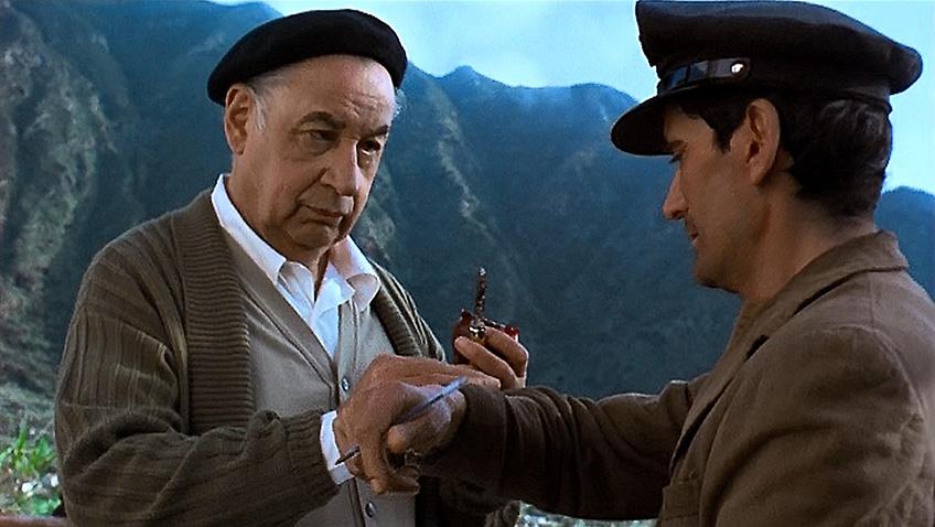 Philippe Noiret and Massimo Troisi in Il Postino: The Postman - Credit IMDB