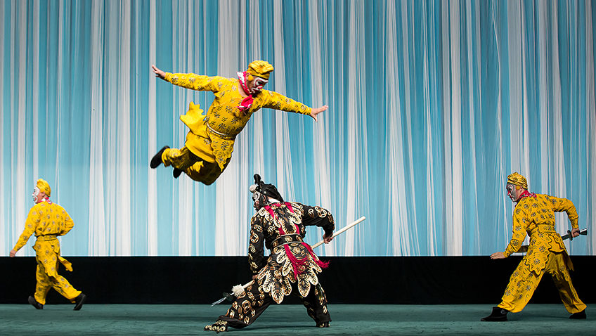 China National Peking Opera Company in The Monkey King and The Leopard - Credit Susie Gray