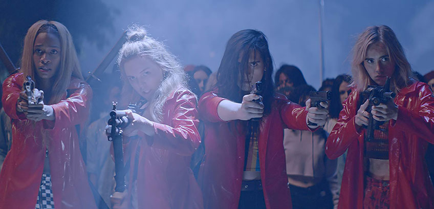 Odessa Young, Suki Waterhouse, Hari Nef and Abra in Assassination Nation - Credit IMDB