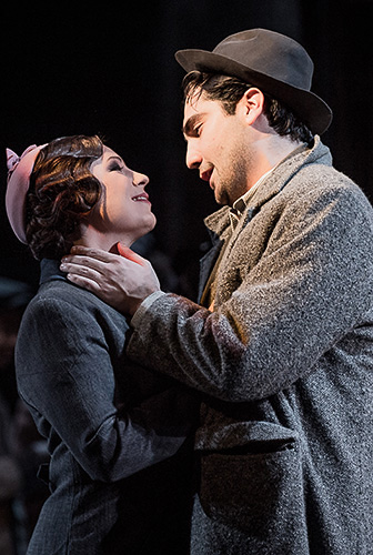 Natalya Romaniw and Jonathan Tetelman in La Bohème - Credit Robert Workman