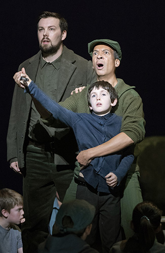 David Butt Philip, Roderick Williams and Jeremy Jeffes in War Requiem - Credit Richard Hubert Smith
