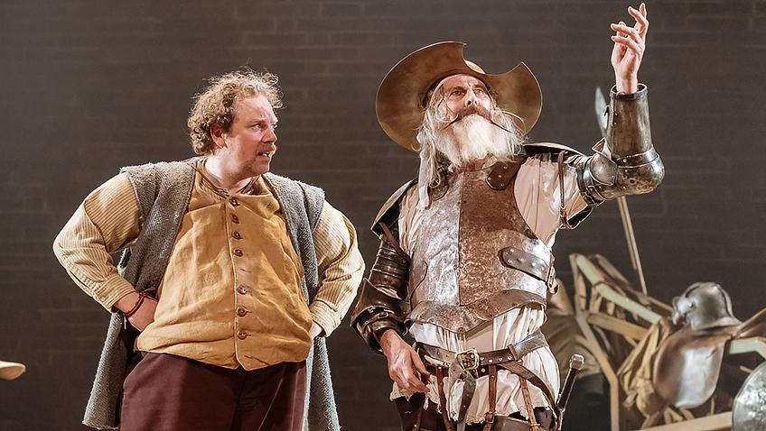 Rufus Hound and David Threlfall in Don Quixote - Credit Manuel Harlan