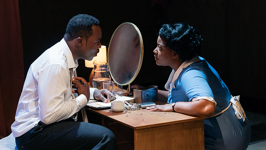 Gbolahan Obisesan and Rochelle Rose in The Mountaintop - Credit Helen Murray