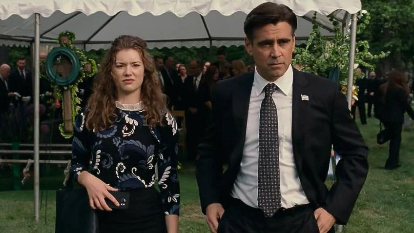 Colin Farrell and Molly Kunz in Widows - Credit IMDB
