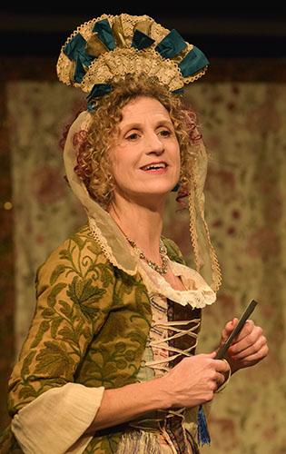 Hannah Stokeley in The Double Dealer - Credit Robert Day