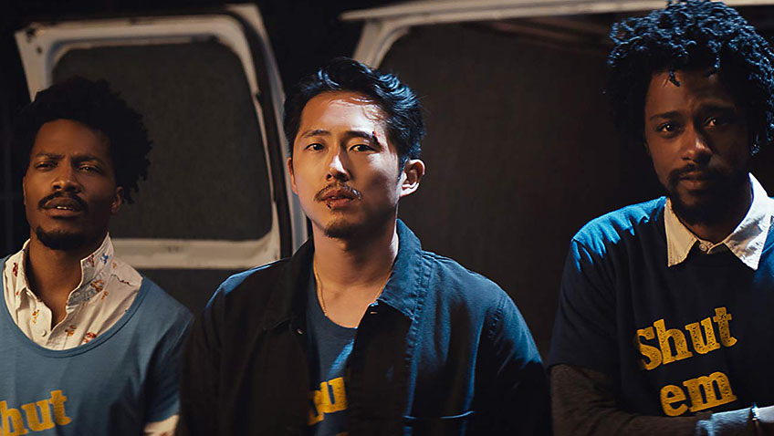 Jermaine Fowler, Steven Yeun and Lakeith Stanfield in Sorry to Bother You - Copyright Annapurna Pictures - Credit IMDB