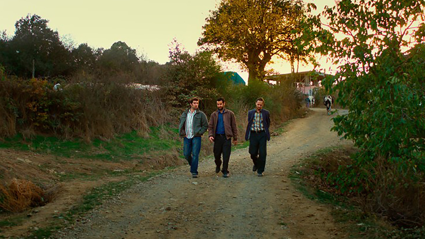 Öner Erkan, Dogu Demirkol and Akin Aksu in The Wild Pear Tree - Credit IMDB