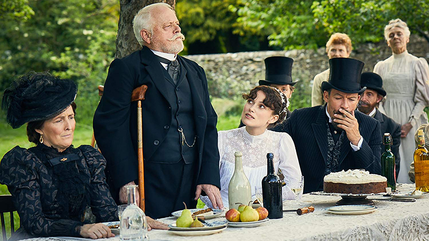 Keira Knightley, Robert Pugh and Fiona Shaw in Colette - Credit IMDB