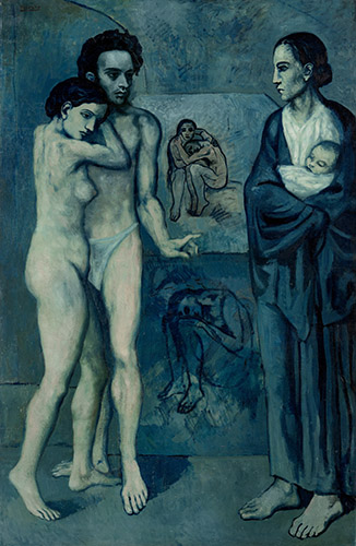 La Vie, 1903 (oil on canvas) by Pablo Picasso (1881-1973) - Copyright DACS