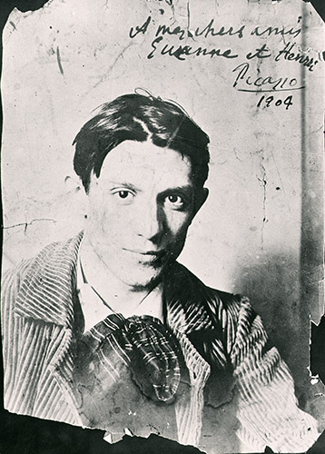 Pablo Picasso (1881-1973), 1904 (b/w photo) - Copyright DACS