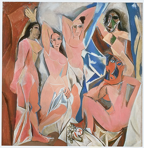 Les Demoiselles d'Avignon,1907, Oil on canvas by Pablo Picasso - Copyright DACS