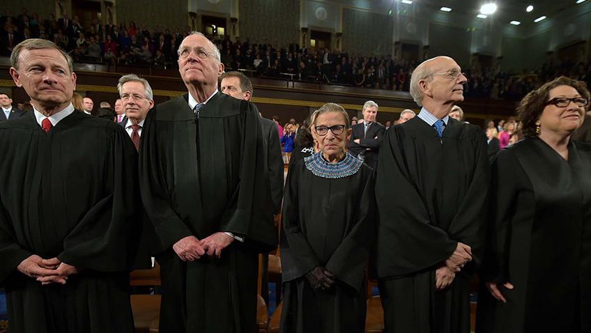 Ruth Bader Ginsburg, John G. Roberts Jr., Sonia Sotomayor, Anthony Kennedy and Stephen Breyer in RBG - Credit IMDB