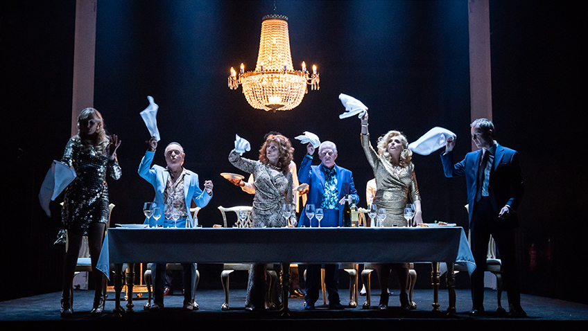 The Company in Pinter Six - Credit Marc Brenner