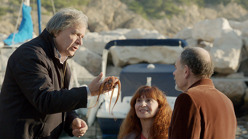 Ariane Ascaride, Jean-Pierre Darroussin and Gérard Meylan in The House by the Sea - Credit IMDB
