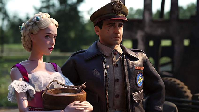 Steve Carell and Siobhan Williams in Welcome to Marwen - Copyright Universal Pictures - Credit IMDB