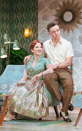 Richard Harrington and Katherine Parkinson in Home, I'm Darling - Credit Manuel Harlan