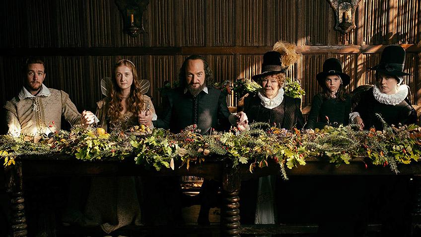 Kenneth Branagh, Judi Dench, Lydia Wilson, Jack Colgrave Hirst, Kathryn Wilder and Eleanor de Rohan in All Is True - Credit IMDB