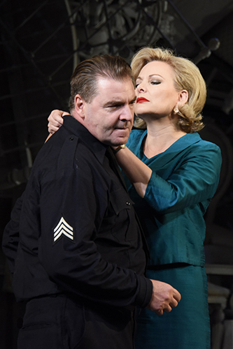 Brendan Coyle and Sara Stewart in The Price - Credit Nobby Clark
