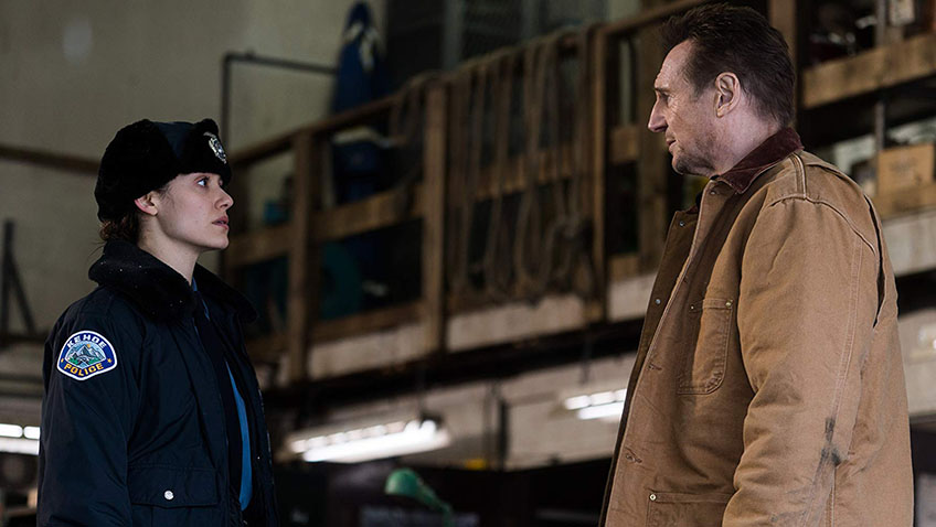 Liam Neeson and Emmy Rossum in Cold Pursuit - Copyright Doane Gregory - Credit IMDB