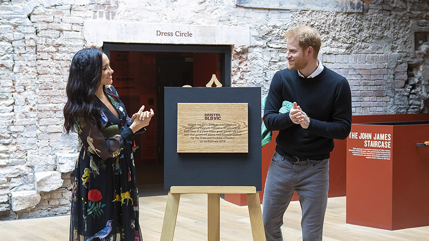 Bristol Old Vic's young people celebrate sharing their creativity with the Duke and Duchess of Sussex