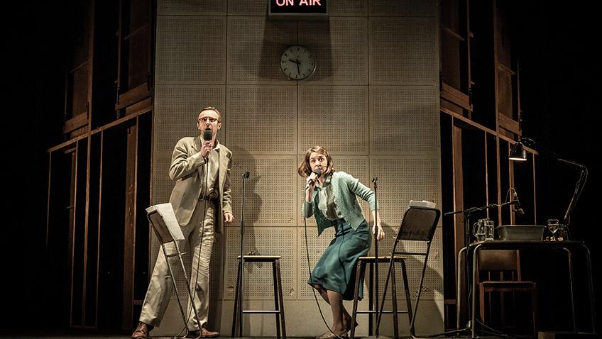 John Heffernan and Gemma Whelan in A Slight Ache - Pinter Seven - Credit Marc Brenner