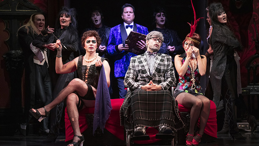 Kristian Lavercombe, Stephen Webb, Dom Joly, Ross Chisari and Miracle Chance in The Rocky Horror Show