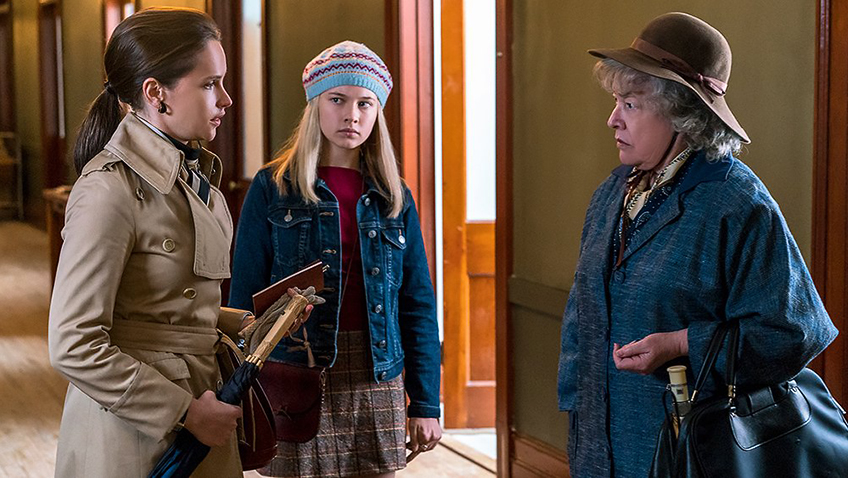 Kathy Bates, Felicity Jones and Cailee Spaeny in On the Basis of Sex - Credit IMDB