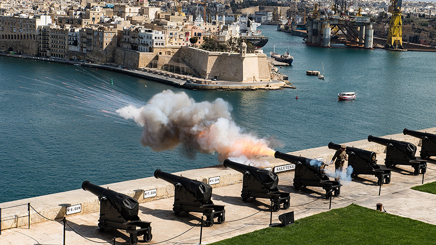 Valletta harbour cannons - Malta - Free for commercial use No attribution required - Credit Pixabay