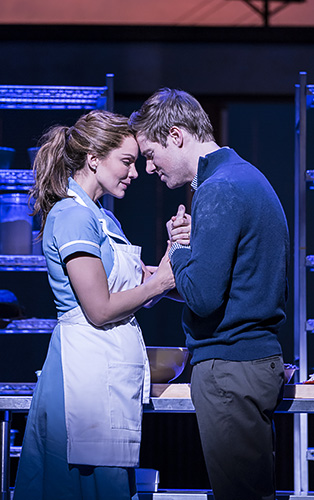 Katharine McPhee and David Hunter in Waitress - Credit Johan Persson