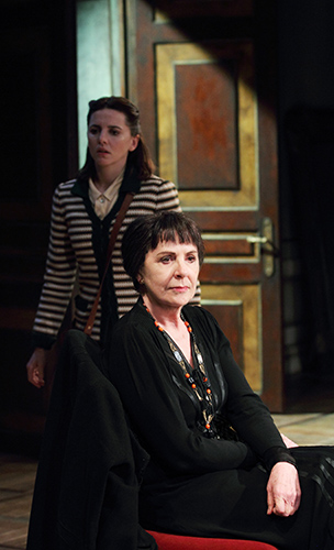 Ophelia Lovibond and Penelope Wilton in The Bay at Nice - Credit Catherine Ashmore