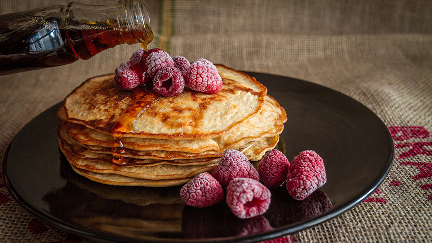 Will you be contemplating a glass of wine with your pancakes?