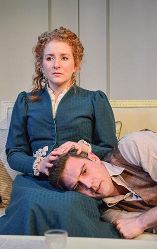 Dorothea Myer-Bennett and James Sheldon in Creditors - Credit - Robert Day