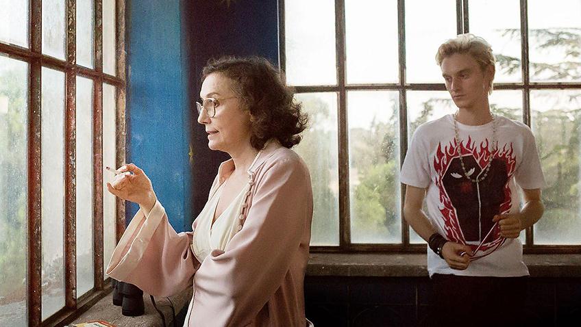Nicoletta Braschi and Luca Chikovani in Happy as Lazzaro - Credit IMDB
