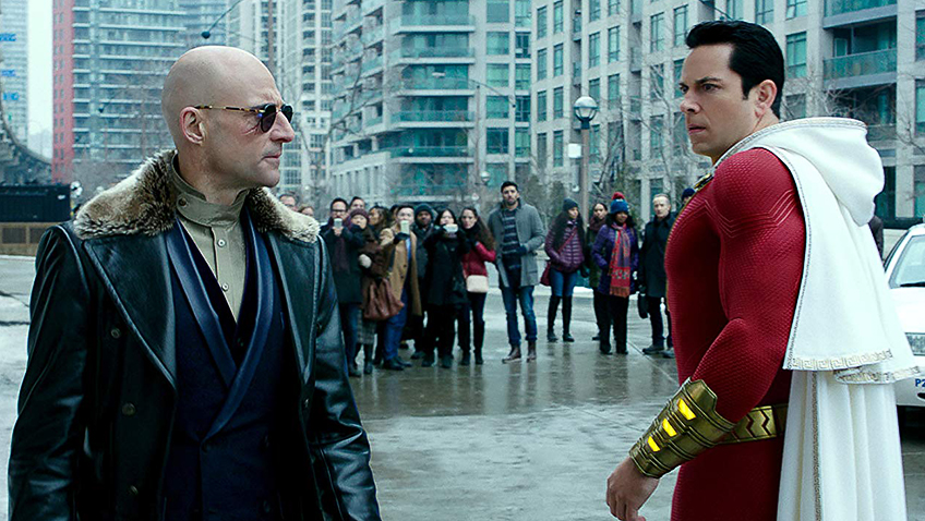 Mark Strong and Zachary Levi in Shazam! - Credit IMDB