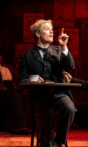 Freddie Fox in Edmond de Bergerac - Credit Graeme Braidwood