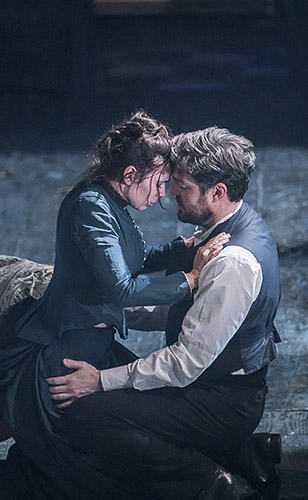 Hayley Atwell and Tom Burke in Rosmersholm - Credit Johan Persson