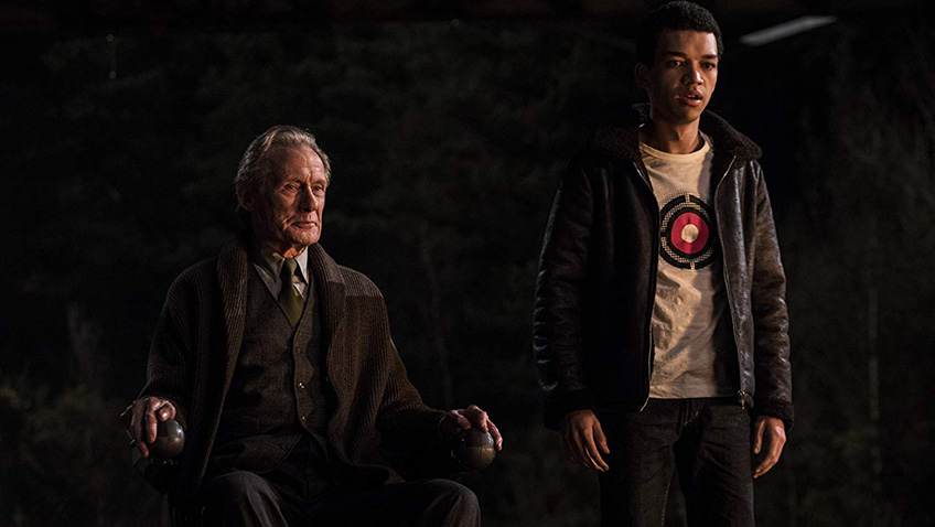 Bill Nighy and Justice Smith in Pokémon Detective Pikachu - Credit IMDB