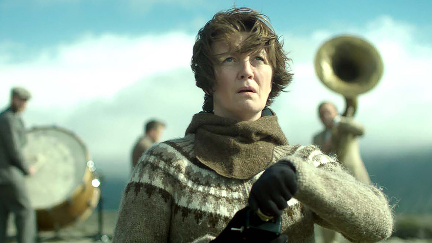 Halldóra Geirharðsdóttir in Woman at War - Credit IMDB