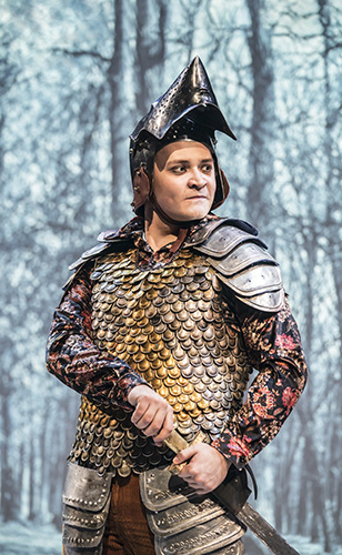 Nazar Safonov in The Knight of the Burning Pestle - Credit Johan Persson