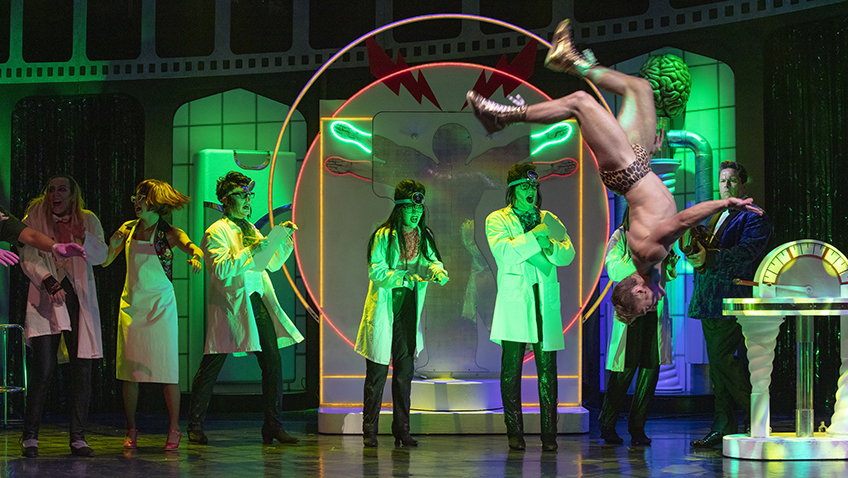 Callum Evans and cast in Rocky Horror Show - Credit David Freeman