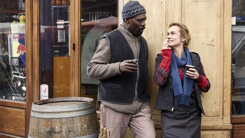 Sandrine Bonnaire and Eriq Ebouaney in A Season in France - Credit IMDB
