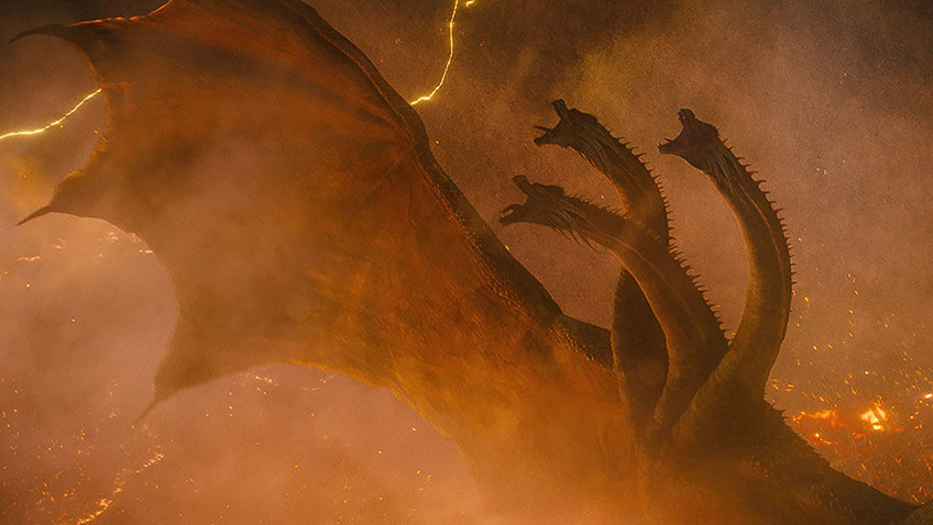 King Ghidorah in Godzilla: King of the Monsters - Credit IMDB