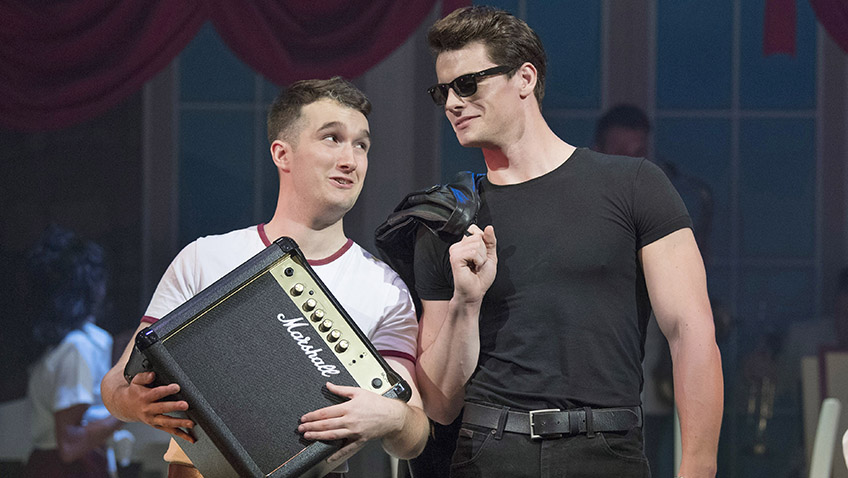 Alex Wheeler and Michael O'Reilly in Dirty Dancing - The Classic Story on Stage - Credit Alastair Muir